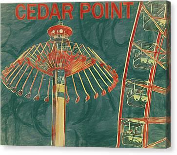 Cedar Point Art Poster Canvas Print by Dan Sproul