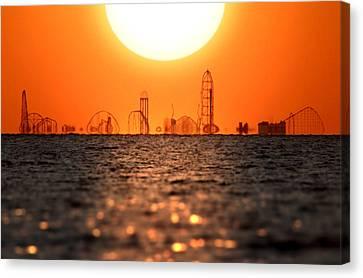 Cedar Point Skyline 2 Canvas Print