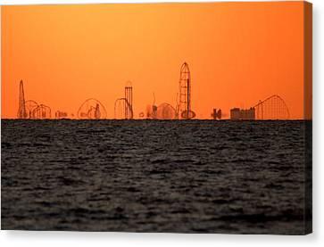 Cedar Point Skyline Canvas Print