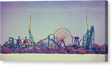 Cedar Point Skyline Canvas Print