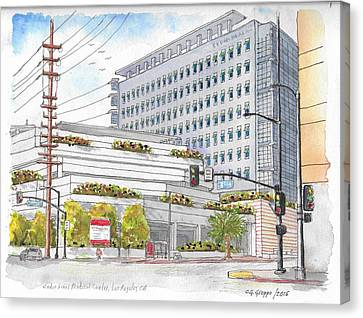 Cedars-sinai Medical Center, 3rd And San Vicente, West Hollywood, Ca Canvas Print by Carlos G Groppa