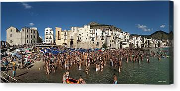 Cefalu Canvas Print by Robert Lacy