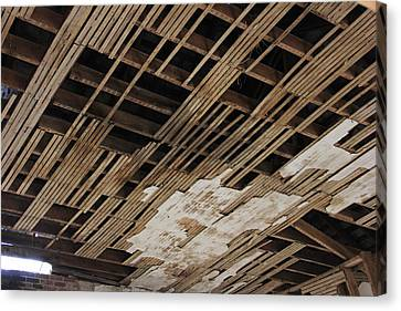 Ceiling Laths Canvas Print by Jeff Roney