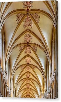 Canvas Print featuring the photograph Ceiling, Wells Cathedral. by Colin Rayner