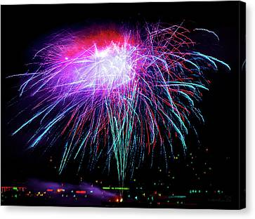 Pyrotechnic Canvas Print - Celebrate by Brian Tada