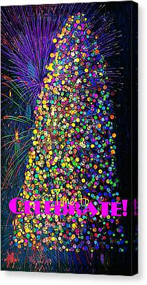 Celebrate In Lights Canvas Print by ARTography by Pamela Smale Williams