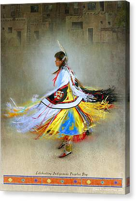Celebrate Indigenous Peoples Day Canvas Print by R christopher Vest