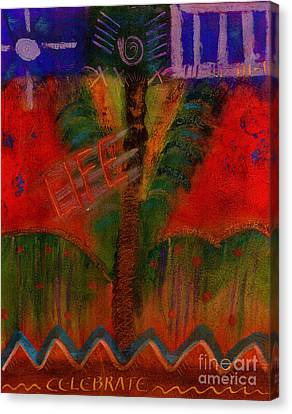 Canvas Print featuring the painting Celebrate Life by Angela L Walker