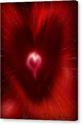 Celebrate Love Canvas Print by Linda Sannuti
