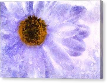 Digital Paint Flower Canvas Print - Celebrate Spring by Krissy Katsimbras