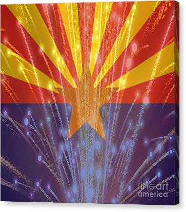 Celebrating Freedom In Arizona Canvas Print by Beverly Guilliams