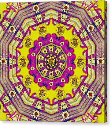 Celebrating Summer In Soul And Mind Mandala Style. Canvas Print