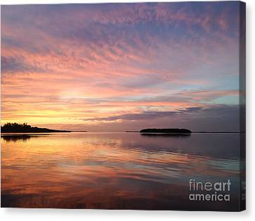 Celebrating Sunset In Key Largo Canvas Print
