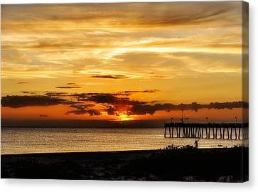 Southwest Florida Sunset Canvas Print - Celebrating The Setting Sun by Frank J Benz