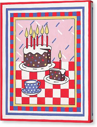 Celebration Cake Canvas Print
