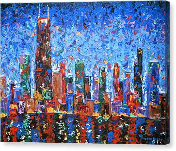 Hancock Building Canvas Print - Celebration City by J Loren Reedy