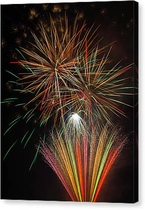 Celebration Fireworks Canvas Print by Garry Gay
