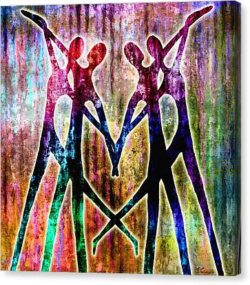 Dancing Canvas Print - Celebration by Jaison Cianelli