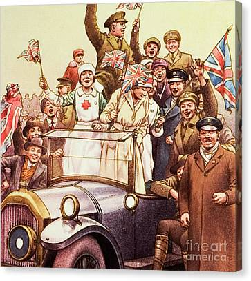 Celebrations Post World War I Canvas Print by Pat Nicolle