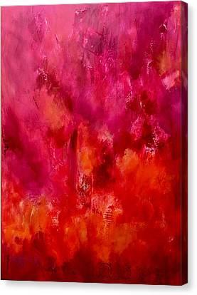 Sikh Art Canvas Print - Celebrations Wedding Pink Abstract  by Sukhpal Grewal