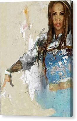 Celebrity / Jennifer Lopez 2 Canvas Print by Jani Heinonen