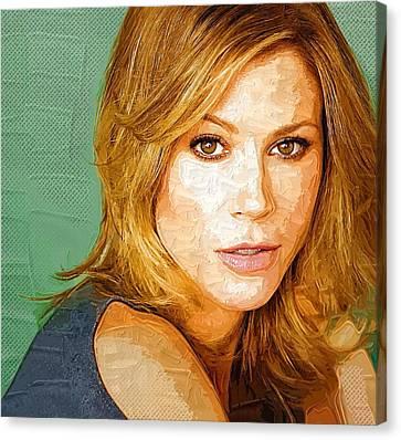 Celebrity Julie Bowen  Canvas Print