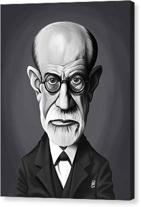 Freud Canvas Print - Celebrity Sunday - Sigmund Freud by Rob Snow