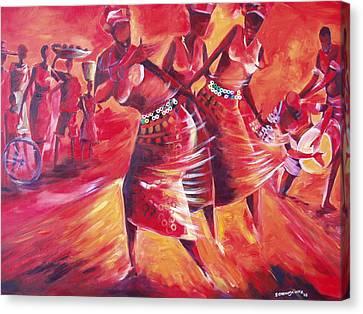 Celeration Canvas Print by Michael Echekoba