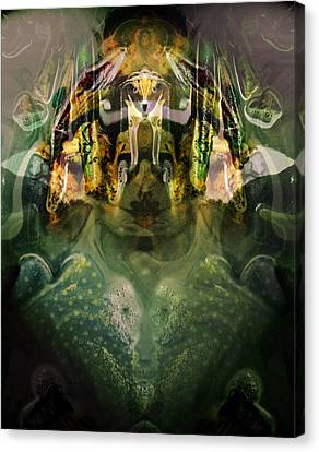 Canvas Print featuring the digital art Celerian by Lynda Lehmann