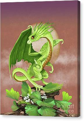 Celery Dragon Canvas Print by Stanley Morrison