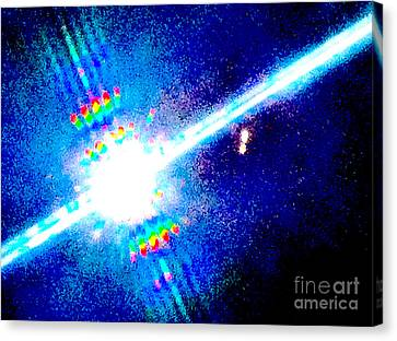 Celestial Abstract Canvas Print by Ken Lerner