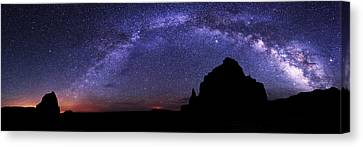 Southwest Canvas Print - Celestial Arch by Chad Dutson
