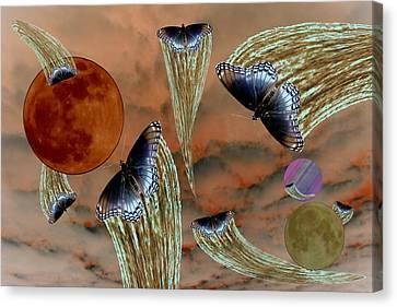 Celestial Butterflies Canvas Print