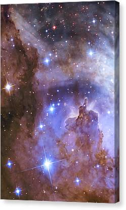 Celestial Fireworks - Hubble 25th Anniversary Image Canvas Print by Adam Romanowicz