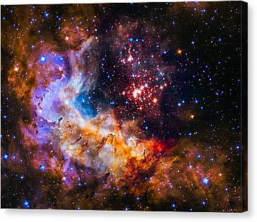 Celestial Fireworks Canvas Print by Marco Oliveira