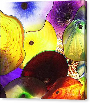 Celestial Glass 1 Canvas Print by Xueling Zou