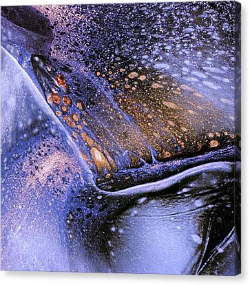 Celestial Lava Flow Abstract Canvas Print