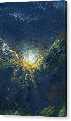 Canvas Print featuring the painting Celestial by Marilyn Barton