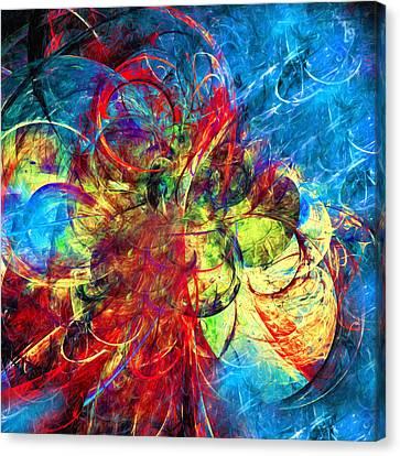 Celestial Moons Abstract Canvas Print by Georgiana Romanovna