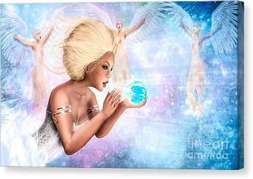 Celestial Providence - The Guardians Canvas Print by Gallery  Beguiled