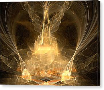 Canvas Print featuring the digital art Celestial by R Thomas Brass