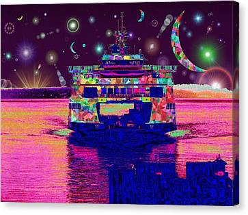 Celestial Sailing Canvas Print