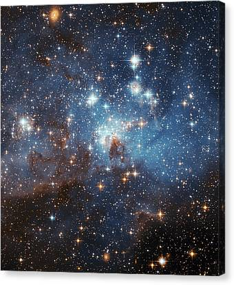 Canvas Print featuring the photograph Celestial Season's Greetings From Hubble by Nasa