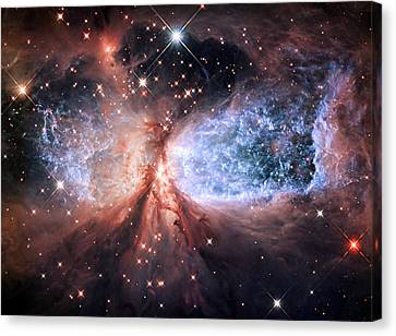 Canvas Print featuring the photograph Celestial Snow Angel - Enhanced - Sharpless 2-106 by Adam Romanowicz