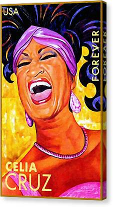 Celia Cruz Canvas Print