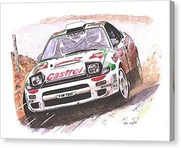 Racing Canvas Print - Celica by Leonardo Baigorria