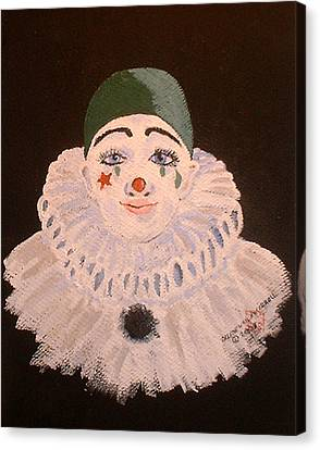 Celine The Clown Canvas Print by Arlene  Wright-Correll