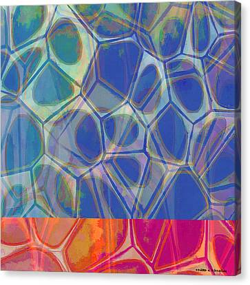Cell Abstract One Canvas Print by Edward Fielding