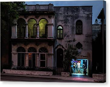 Canvas Print featuring the photograph Cell Phone Shop Havana Cuba by Charles Harden