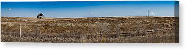 Canvas Print featuring the photograph Cell Towers Invade The Prairie by Robert Harshman